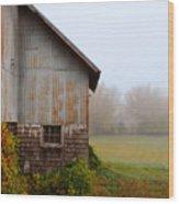 Autumn Barn Wood Print by Jill Battaglia