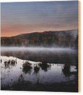Autumn Fog Wood Print by William Carroll