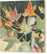 Autumn Leaves Wood Print by Arline Wagner