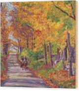 Autumn Ride Wood Print by David Lloyd Glover
