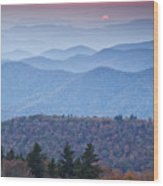 Autumn Sunset On The Parkway Wood Print by Rob Travis