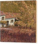 Autunno Rosso Wood Print by Guido Borelli