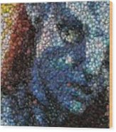 Avatar Neytiri Bottle Cap Mosaic Wood Print by Paul Van Scott