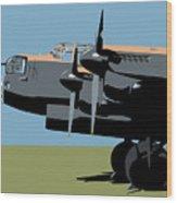 Avro Lancaster Bomber Wood Print by Michael Tompsett