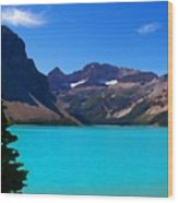 Azure Blue Mountain Lake Wood Print by Greg Hammond