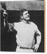 Babe Ruth 1895-1948, American Baseball Wood Print by Everett