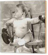 Baby Boxer Wood Print by Daniel Napoli