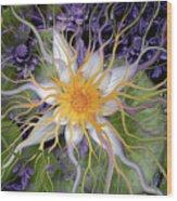 Bali Dream Flower Wood Print by Christopher Beikmann