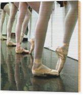 Ballet In Studio Wood Print by Chiara Costa
