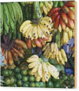 Banana Display. Wood Print by Jane Rix