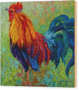 Band Of Gold - Rooster Wood Print by Marion Rose