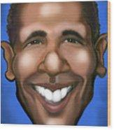 Barack Obama Wood Print by Kevin Middleton
