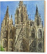 Barcelona Spain Wood Print by Irina Sztukowski