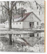 Barn Reflection Wood Print by Scott Hansen