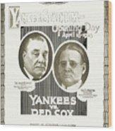 Baseball Program, 1923 Wood Print by Granger