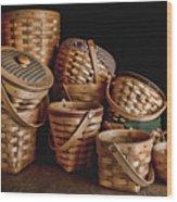 Basket Still Life 01 Wood Print by Tom Mc Nemar