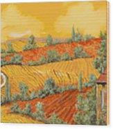 Bassa Toscana Wood Print by Guido Borelli