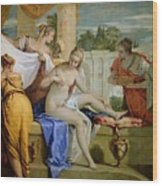Bathsheba Bathing Wood Print by Sebastiano Ricci