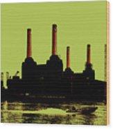 Battersea Power Station London Wood Print by Jasna Buncic