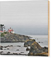 Battery Point Lighthouse California Wood Print by Christine Till