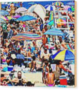 Beach Chaos Wood Print by Diana Angstadt