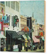 Beale Street Blues Wood Print by Suzanne Barber