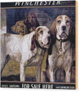 Bear Dogs Wood Print by H R Poore