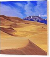Beauty Of The Dunes Wood Print by Scott Mahon