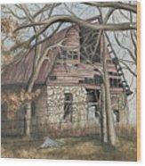 Bella Vista Barn Wood Print by Patty Vicknair