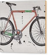 Bicyclebicyclebicycle Wood Print by Emily Jones