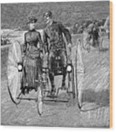 Bicycling, 1886 Wood Print by Granger
