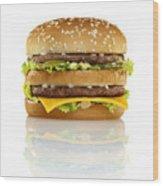 Big Mac Wood Print by Geoff George