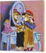 Big Sis Little Sis Wood Print by Lyn Cook