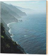 Big Sur Majesty Wood Print by Charlene Mitchell