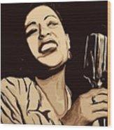 Billie Holiday Wood Print by Jeff DOttavio