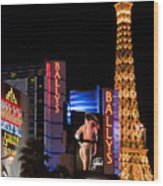 Bills Ballys And Paris Wood Print by Andy Smy