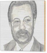 Billy Joel Portrait Wood Print by Carol Wisniewski