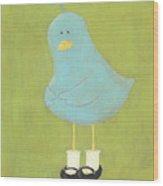 Bitty Bird's New Shoes Nursery Art Wood Print by Katie Carlsruh