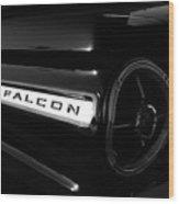 Black Falcon Wood Print by David Lee Thompson
