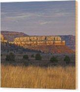 Black Mesa Sunrise Wood Print by Charles Warren