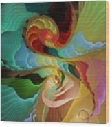 Blending Into Our Souls Wood Print by Gayle Odsather