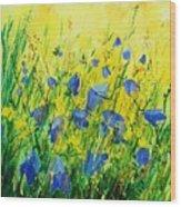 Blue Bells  Wood Print by Pol Ledent