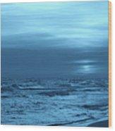 Blue Evening Wood Print by Sandy Keeton