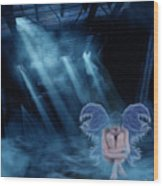 Blue Fairy Wood Print by Maggie  Smith