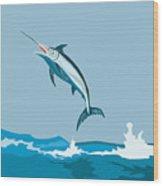 Blue Marlin  Wood Print by Aloysius Patrimonio
