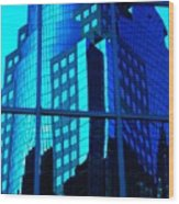Blue Reflections ... Wood Print by Juergen Weiss