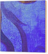 Blue Seed Wood Print by Ishwar Malleret