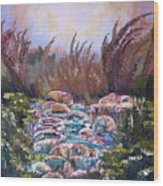 Blue Water Wood Print by Laura Tveras