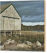 Boathouse Wood Print by John Greim