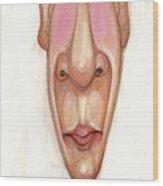 Bobblehead No 64 Wood Print by Edward Ruth